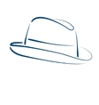 Fedora trilby hat vector image vector image