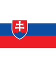 flag of slovakia official colors and proportions vector image vector image