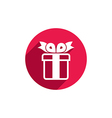 Gift box simple single color icon isolated on vector image vector image