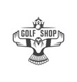golf shop logotype vector image