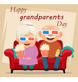 grandparents day greeting card grandmother and vector image vector image