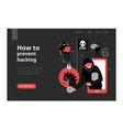 hacker web page vector image