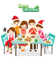 Happy Family Eating Together vector image vector image