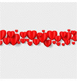 heart border isolated transparent background vector image vector image