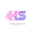 hs h s zebra lines letter logo design with vector image