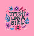 humoristic girl power hand drawn quote vector image vector image