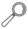 lab magnify glass icon outline style vector image vector image