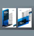 landscape brochure design blue corporate business vector image vector image