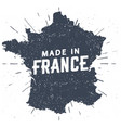 made in france seal silhouette french map vector image vector image