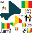 Mali map vector image