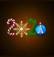 new year 2020 holiday decoration element vector image