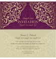 Orient invitation purple and beige vector image vector image