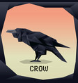 origami black crow vector image