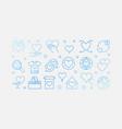 philanthropy blue outline horizontal banner vector image vector image