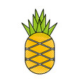 pineapple fresh fruit isolated icon vector image vector image