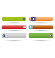 play web buttons vector image vector image