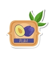 Plum Bright Color Jam Label Sticker Template In vector image vector image
