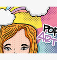 pop art cartoon vector image