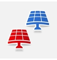 realistic design element solar battery vector image