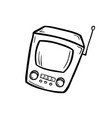 retro device - old tv vector image