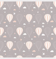 seamless pattern childrens drawing balloons vector image vector image