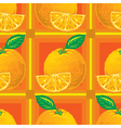 seamless pattern of cartoon oranges vector image vector image