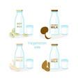 set vegan milk different vector image