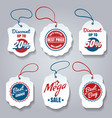 shopping pricing tags set vector image vector image