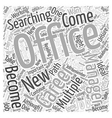 Should You Become an Office Manager Word Cloud vector image vector image
