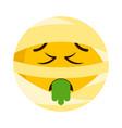 sick mummy emoji icon vector image