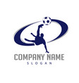 soccer player logo vector image vector image