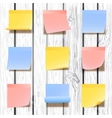 Sticky notes collection vector image vector image