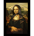 stylized mona lisa made of triangles vector image