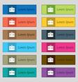 suitcase icon sign Set of twelve rectangular vector image vector image