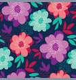 summer vivid color floral seamless pattern vector image vector image