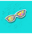 sun glasses colorful fashion patch badge sticker vector image