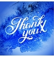 THANK YOU hand lettering - custom handmade vector image