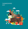 thanksgiving day flat style design vector image