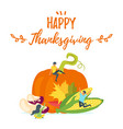 thanksgiving symbols with people silhouettes vector image vector image