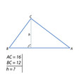 the task of finding the right triangle height-01 vector image vector image