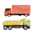 Trucks delivery vehicle vector image vector image
