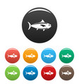 tuna fish icon simple style vector image