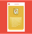 valentines day card mobile vertical banner design vector image