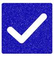 valid tick icon grunge watermark vector image vector image