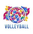volleyball logo stock vector image vector image