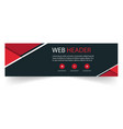 web header modern red black design black backgroun vector image vector image