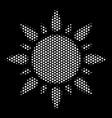 white pixel sun icon vector image