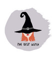Witch in hat vector image