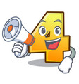 with megaphone character number four on the wall vector image vector image