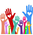 hands and heart donation donor concept icon of vector image